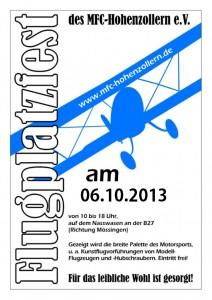 Flugplatzfest MFC-Hohenzollern 06.10.2013