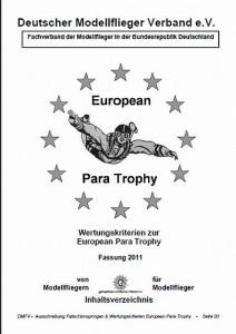 European Para Trophy 2011 Ausschreibung (PDF)