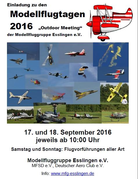 Modellflugtag Esslingen 2016