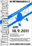 Plakat des Flugplatzfest 2011